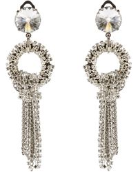 Giorgio Armani - Metallic Embellished Clip On Earrings - Lyst
