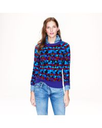 J.Crew | Purple Collection Cashmere Stained Glass Sweater | Lyst