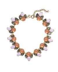 J.Crew | Pink Double Gem Necklace | Lyst