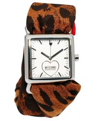 Boutique Moschino - Red Leopard Scarf Watch - Lyst