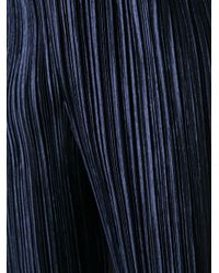 Pleats Please Issey Miyake - Blue Tapered Trouser - Lyst