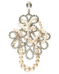 Tom Binns   Metallic Grande Dame Pearl Earring   Lyst