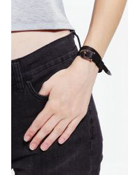 The 2 Bandits - Black Small Sunray Wrap Bracelet - Lyst