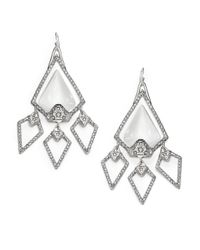 Alexis Bittar - Metallic Lucite Crystal Large Chandelier Earrings - Lyst