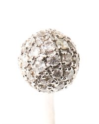 Elise Dray | Gray Diamond & Gold Double-Ball Earring | Lyst