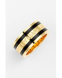 Marc By Marc Jacobs | Metallic Classic Marc Logo Band Ring | Lyst