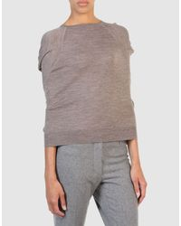 Marc Jacobs - Gray Long Sleeve Sweater - Lyst