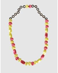 Miss Sixty | Pink Necklace | Lyst