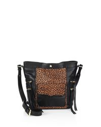 Rebecca Minkoff - Black Dexter Calf Hair and Leather Bucket Bag - Lyst