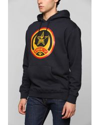 Urban Outfitters - Blue Obey Crescent Pullover Hoodie Sweatshirt for Men - Lyst