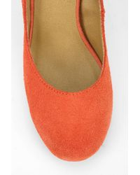 Urban Outfitters | Orange Uo Suede Pump | Lyst