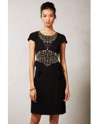 Vineet Bahl | Black Cameo Peplum Dress | Lyst