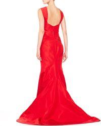 Zac Posen - Red Silk Halter Gown Grenadine - Lyst
