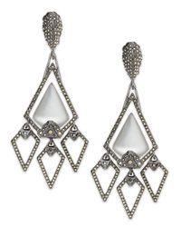 Alexis Bittar | Metallic Santa Fe Deco Xl Lucite Arrow Clipon Earrings | Lyst