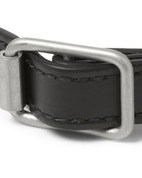 Balenciaga - Black Wrapped Studded Leather Bracelet for Men - Lyst