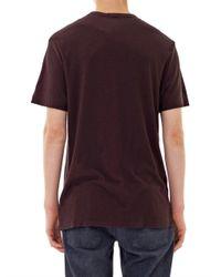 James Perse - Purple Slub Cotton T-Shirt for Men - Lyst