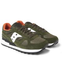 Saucony | Green Shadow Original Suede and Mesh Sneakers for Men | Lyst