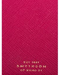 Smythson - Pink Panama Leather 4 Zip Currency Case for Men - Lyst