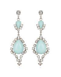 Tom Binns | Blue Mint Crystal Teardrop Earrings | Lyst