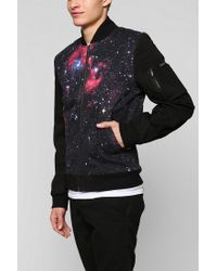 Urban Outfitters - Black Tripp Nyc Nebula Bomber Jacket for Men - Lyst