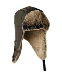 Woolrich - Green Trapper Hat for Men - Lyst