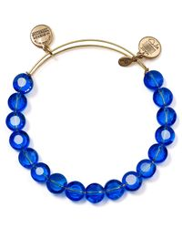 ALEX AND ANI - Luxe Blue Bangle - Lyst