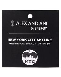 ALEX AND ANI - Metallic Nyc Skyline Ii Bangle - Lyst