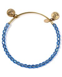 ALEX AND ANI | Blue Beaded Expandable Wire Bangle | Lyst