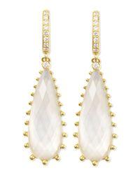 Frederic Sage | White Tivoli Teardrop Mother-Of-Pearl & Diamond Earrings | Lyst