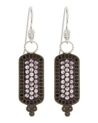 Jude Frances - Black Pink Sapphire and Spinel Pave Long Drop Earrings - Lyst