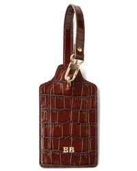 Abas - Brown Crocodile-Embossed Luggage Tag - Lyst