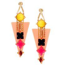 ASOS - Multicolor Perspex Gem Drop Earrings - Lyst