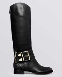 Boutique 9 | Black Tall Boots Randen Belted | Lyst