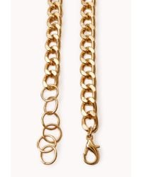Forever 21 - Metallic Streetchic Ratchet Necklace - Lyst
