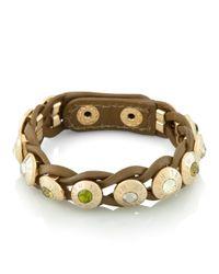 Henri Bendel - Multicolor Rivet Wrap Bracelet - Lyst