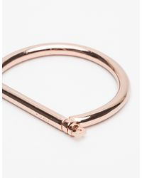 Miansai - Pink Rose Gold Tarn Cuff - Lyst