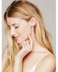 Free People - Metallic Double V Ring - Lyst