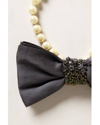 Anthropologie | White Figaro Bow Tie Necklace | Lyst