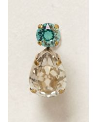Anthropologie - Blue Ear Jumbo Dbl Gem - Lyst
