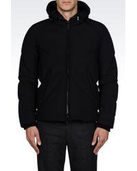 Armani - Black Bomber Jacket for Men - Lyst