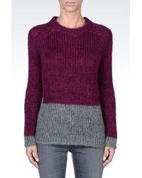 Armani Jeans | Purple Crewneck | Lyst