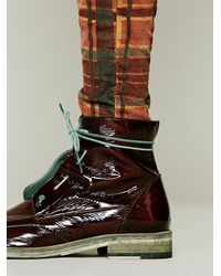 Bed Stu - Brown Hi Shine Lace Boot - Lyst