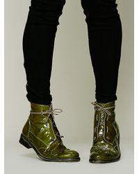 Bed Stu - Green Hi Shine Lace Boot - Lyst