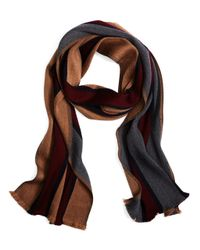 Brooks Brothers | Purple Double Faced Merino Bold Stripe Scarf for Men | Lyst