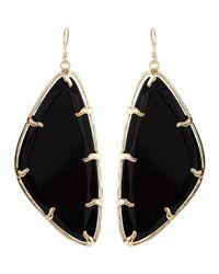Kendra Scott - Metallic Willow Black Glass Earrings - Lyst