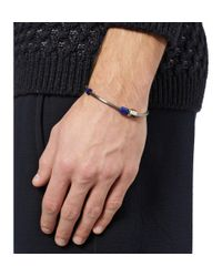 Lanvin - Metallic Metal and Bead Bracelet for Men - Lyst