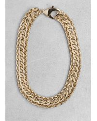 & Other Stories | Metallic Chain-Link Necklace | Lyst
