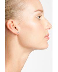 Adina Reyter | Metallic Pavé Diamond Disc Stud Earrings | Lyst
