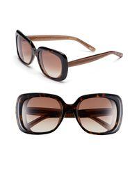Bottega Veneta | Brown 56mm Oversized Sunglasses | Lyst