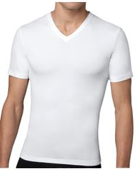 Brooks Brothers | White Spanx® Cotton Compression V-neck for Men | Lyst